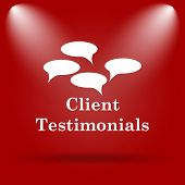 stock photo of blog icon  - Client testimonials icon - JPG