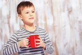 stock photo of little boys only  - Happy morning - JPG