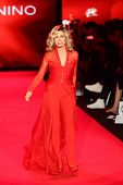 NEW YORK-FEB 12: Actress Donna Mills wears Mark Zunino at Go Red for Women - The Heart Truth Red Dress Collection at Mercedes-Benz Fashion Week at Lincoln Center on February 12, 2014 in New York City.
