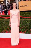LOS ANGELES - JAN 25:  Felicity Jones arrives to the 21st Annual Screen Actors Guild Awards  on January 25, 2015 in Los Angeles, CA