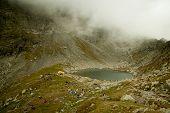 Caltun Lake Near Negoiu Peak, Carpathians Mountains, Romania