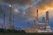 foto of greenpeace  - Oil refinery on the along twilight sky - JPG