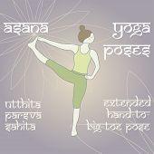 Utthita Parsva Sahita. Extended Hand-to-big-toe Pose.