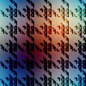 Hounds-tooth pattern on blurred background.
