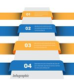 Modern design template, can be used for info-graphics,graphic or website layout vector