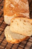 pic of home-made bread  - Home made wheat and rye bread shot from above - JPG