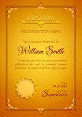 Golden classic premium plaque