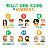 picture of friendship  - Bright icons and avatars - JPG