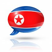 North Korean Flag Speech Bubble