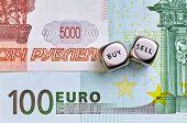 Dices Cubes, Rub, Eur  Banknotes