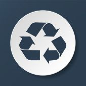 Recycle Sign In White Color - Isolated