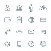 dark outline various social network icons set