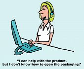 foto of rep  - Cartoon of female customer service rep with headset saying - JPG