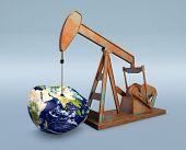 Shortage Of Oil Resources - Elements Of This Image Furnished By Nasa