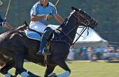 Polo Player Checking His Back