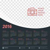 pic of august calendar  - Calendar 2016 Vector Design Template - JPG
