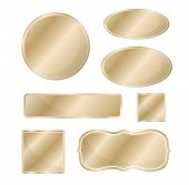 pic of hairline  - Blank metallic icon set bronze color template - JPG