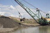 foto of dredge  - Career dredge on extraction of gravel  - JPG