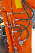 foto of hydraulics  - Hydraulic Pipes at Orange Construction Machinery Tool - JPG