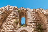 foto of church  - Wall of the ruins of Byzantine church near St - JPG