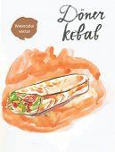 picture of bread rolls  - Watercolor d - JPG