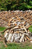 foto of firewood  - Dry firewood  - JPG