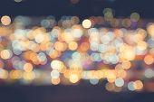 picture of twinkle  - Defocused Bokeh twinkling lights Vintage background - JPG