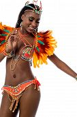 image of carnival brazil  - Carnival woman dancer isolated over white background - JPG