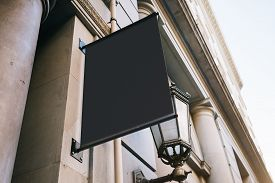 pic of sign-boards  - Sign board on the wall in the modern city - JPG