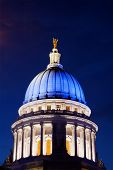 Wisconsin State Capitol in Blue