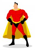 stock photo of kiddy  - Stock vector of a superhero with heroic pose - JPG