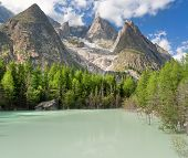 Lago Verde - Green Lake, Courmayeur, Italy