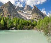 Lago Verde - Green Lake, Courmayeur, Italy