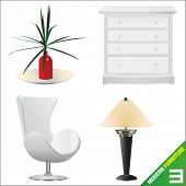 modern furniture 3 vector