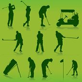 picture of caddy  - golf vector - JPG