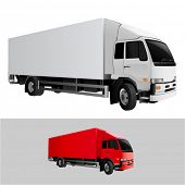 great detail cargo truck vector