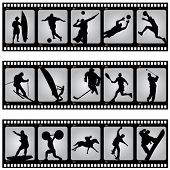 picture of olympiade  - sport filmstrip scene vector - JPG