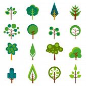 vetor de ícones de árvore