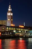 Ferry Building, San Francisco At Night