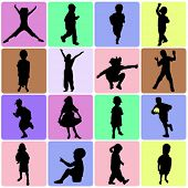 set of kids vector