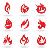 símbolos de fuego