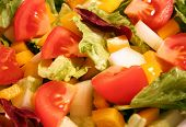 Close up of a yummy salad