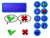 Set of web buttons for your designs. In vector format will size to any pixels without loss of qualit