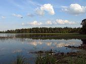 The Summer Day On Lake Valdaiskoye. poster
