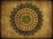 Floral Spiro Pattern On Rough Background