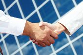 stock photo of business-partner  - Image of handshaking of business partners - JPG