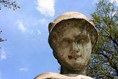 Sculpture Hermes in park Kuskovo  poster