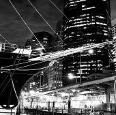 Sailing Ship Prow & Skyline Of New York