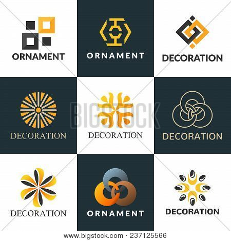 Download image of Luxury Logo Set. A Collection Of Logos For Interior.  Decoration Logo. Interior Icon. Boutique Logo.