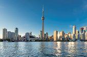 Toronto Skyline At Beautiful Sunny Day, Toronto, Ontario, Canada. poster